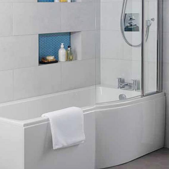 Ideal Standard Connect Air Rechteck-Badewanne mit Duschzone, Einbau