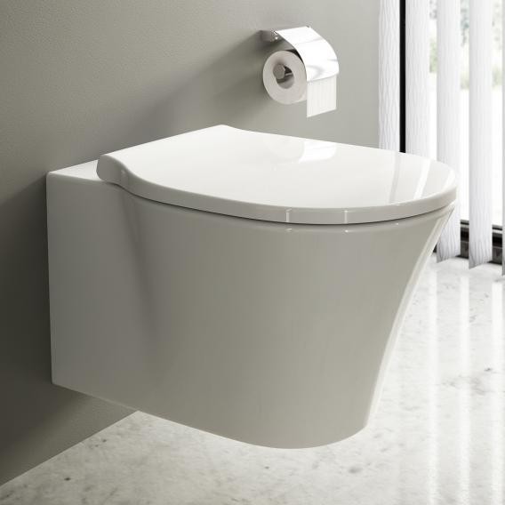 Ideal Standard Connect Air WC-Paket, Wand-Tiefspül-WC ohne Spülrand, mit WC-Sitz weiß, mit Ideal Plus