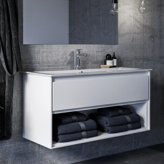 Ideal Standard Connect Air Waschtisch mit Waschtischunterschrank mit 1 Auszug und 1 offenem Fach weiß, mit Ideal Plus