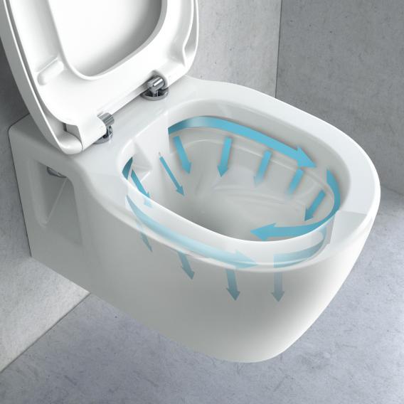 Ideal Standard Connect Kombipaket Wand-Tiefspül-WC weiß, ohne Spülrand, WC-Sitz mit Absenkautomatik