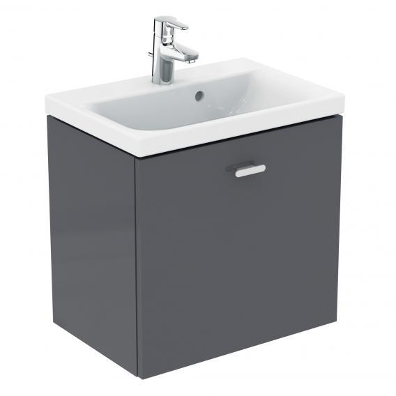 Ideal Standard Connect Space Handwaschbeckenunterschrank mit 1 Auszug Front mittelgrau hochglanz / Korpus mittelgrau hochglanz