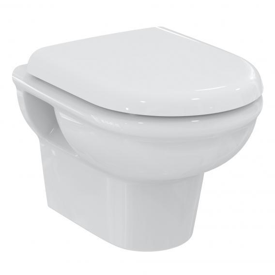 Ideal Standard Exacto Kombipaket Wand-Tiefspül-WC kompakt, spülrandlos, mit WC-Sitz