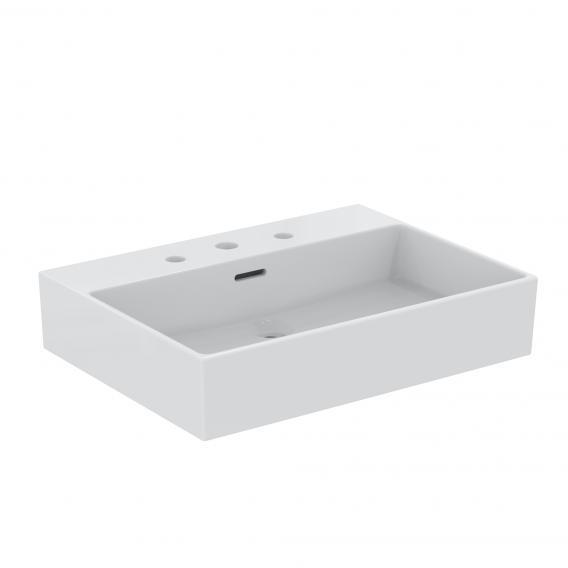 Ideal Standard Extra Waschtisch weiß, mit Ideal Plus, mit 3 Hahnlöchern, geschliffen