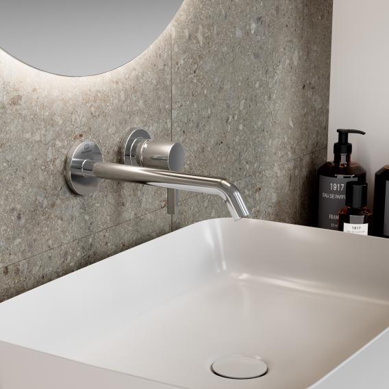 Ideal Standard Joy Wand-Waschtischarmatur Unterputz Bausatz 2 chrom, Ausladung 225 mm