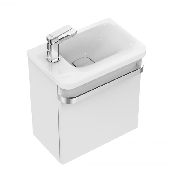 Ideal Standard Tonic II Handwaschbeckenunterschrank mit 1 Tür Front weiß hochglanz/ Korpus weiß hochglanz