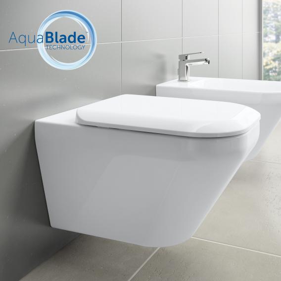 Ideal Standard Tonic II Wand-Tiefspül-WC AquaBlade, mit WC-Sitz weiß, mit Ideal Plus