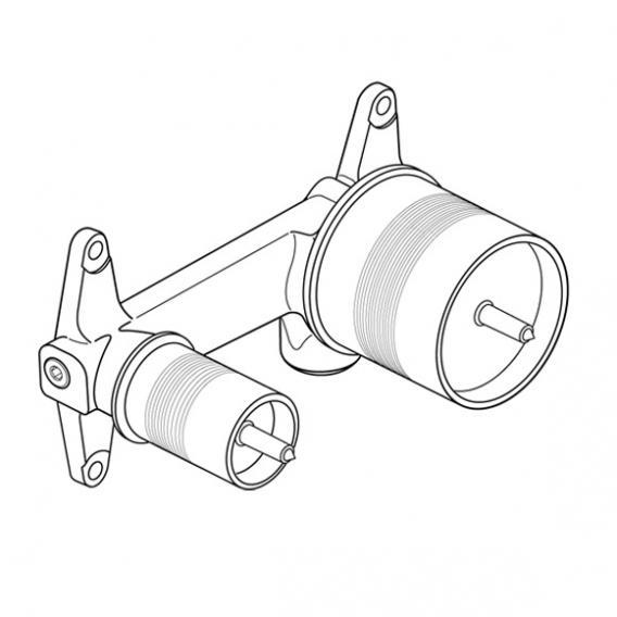ideal standard unterputz bausatz 1 f r wand waschtischarmatur a5948nu reuter. Black Bedroom Furniture Sets. Home Design Ideas