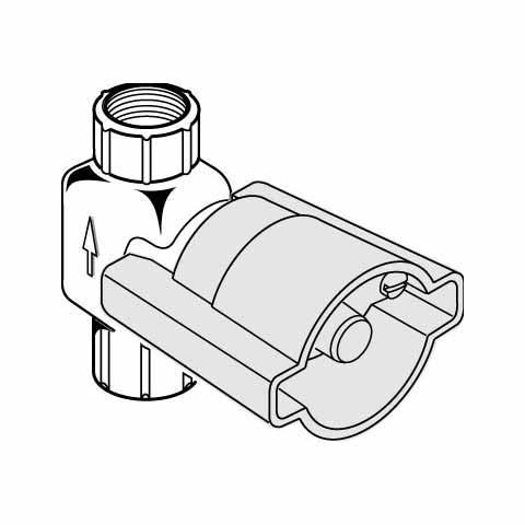 Ideal Standard Unterputz-Bausatz 1, für Wandeinbauventile 3/4 Zoll mit Gummioberteil