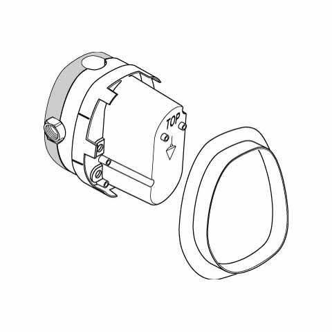 Ideal Standard Unterputz-Bausatz 1, für Zentral-Thermostate G 1/2