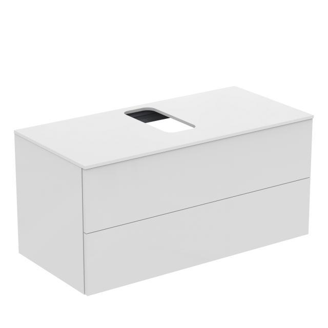 Ideal Standard Adapto Waschtischunterschrank für Aufsatzwaschtisch mit 2 Auszügen Front weiß hochglanz / Korpus weiß hochglanz