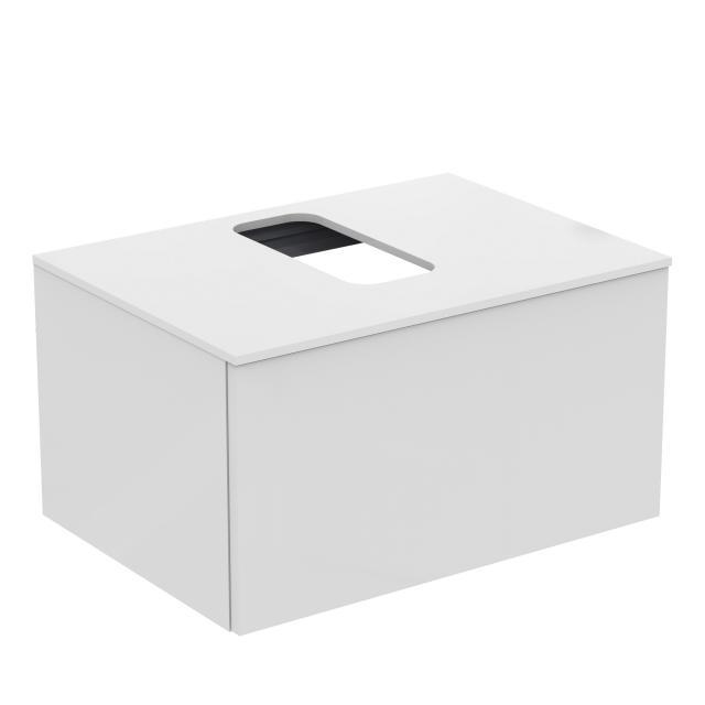 Ideal Standard Adapto Waschtischunterschrank für Aufsatzwaschtisch mit 1 Auszug Front weiß hochglanz / Korpus weiß hochglanz