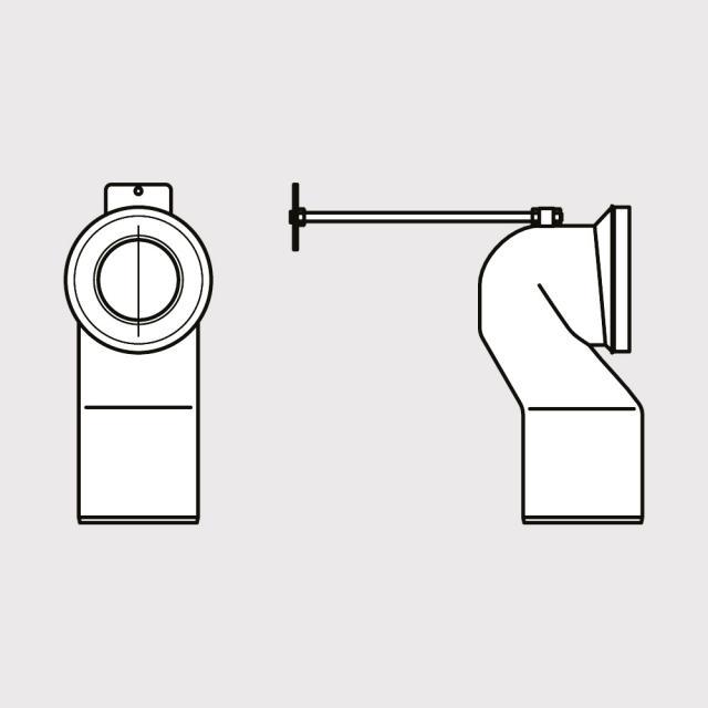 Ideal Standard Anschlussset für senkrechten Abgang