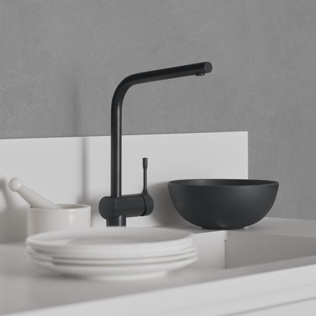 Ideal Standard CERALOOK Einhebel-Küchenarmatur mit schwenkbarem Auslauf silk black