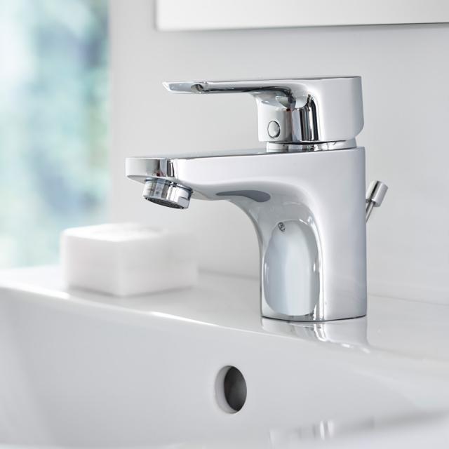Ideal Standard CeraPlan III Einhebel-Waschtischarmatur 130 mit Ablaufgarnitur