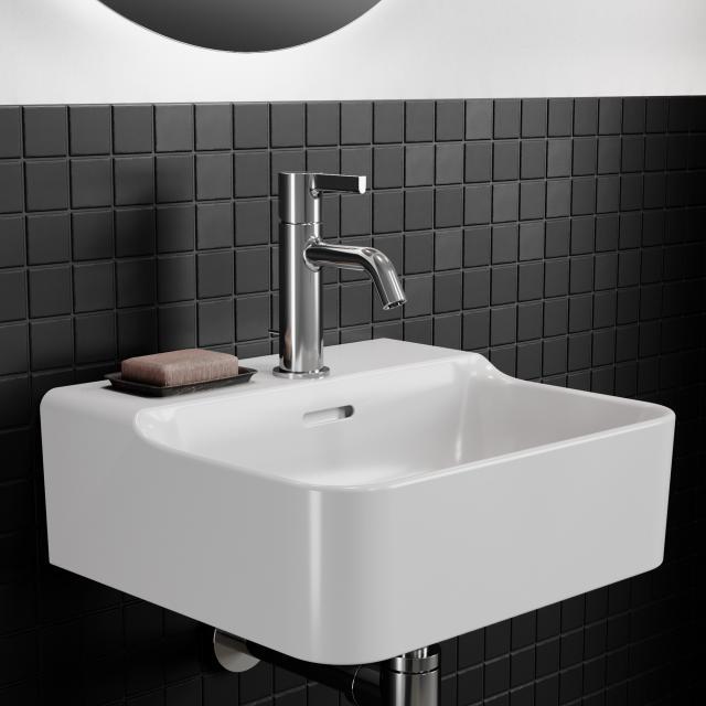 Ideal Standard Conca Handwaschtisch weiß, mit Ideal Plus, mit 1 Hahnloch, ungeschliffen, mit Überlauf