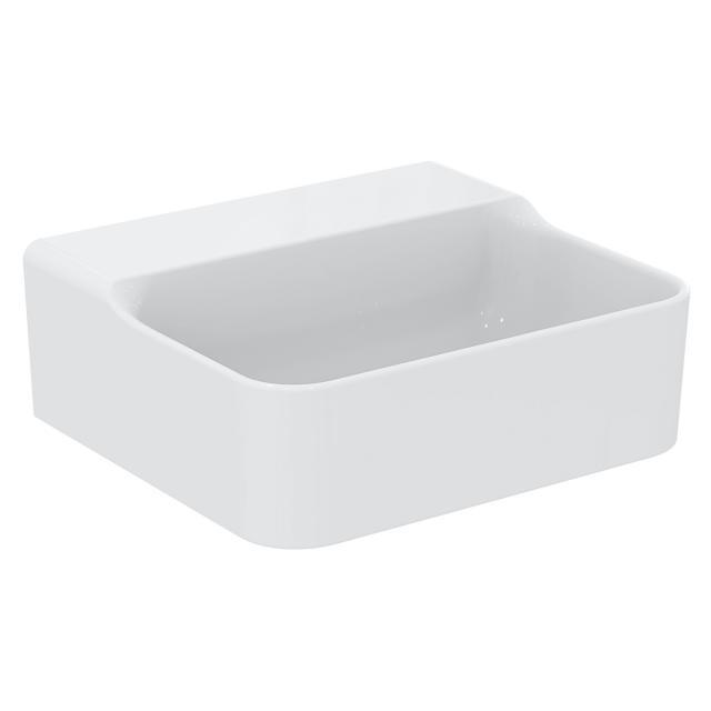 Ideal Standard Conca Handwaschtisch weiß, ohne Hahnloch, ungeschliffen, ohne Überlauf