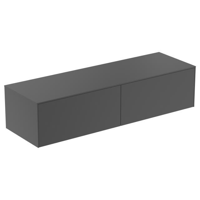 Ideal Standard Conca Seitenschrank mit 2 Auszügen Front anthrazit matt / Korpus anthrazit matt