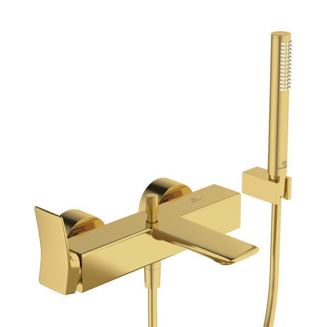 Ideal Standard Conca Wannenarmatur Aufputz mit Brausegarnitur brushed gold