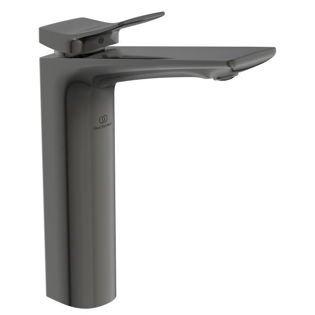 Ideal Standard Conca Waschtischarmatur mit verlängertem Sockel magnetic grey, ohne Ablaufgarnitur