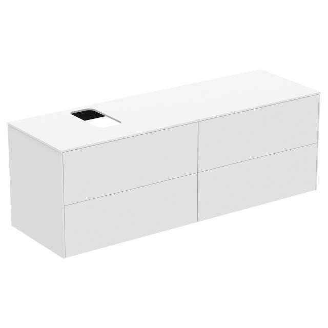 Ideal Standard Conca Waschtischunterschrank mit 4 Auszügen und 1 Ausschnitt Front weiß matt / Korpus weiß matt
