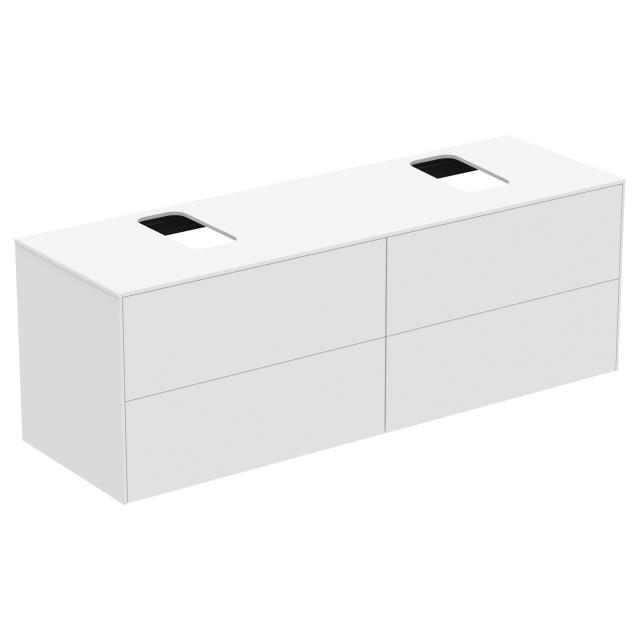 Ideal Standard Conca Waschtischunterschrank mit 4 Auszügen und 2 Ausschnitten Front weiß matt / Korpus weiß matt