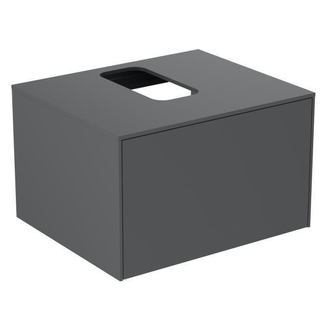 Ideal Standard Conca Waschtischunterschrank mit 1 Auszug und 1 Ausschnitt Front anthrazit matt / Korpus anthrazit matt