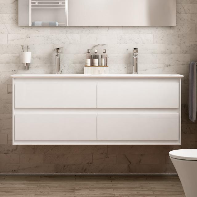 Ideal Standard Connect Air Doppelwaschtisch mit Waschtischunterschrank mit 4 Auszügen weiß, mit Ideal Plus