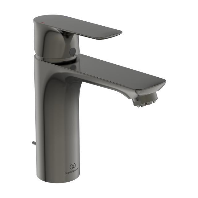 Ideal Standard Connect Air Einhebel-Waschtischarmatur GRANDE, für drucklose Speicher mit Ablaufgarnitur magnetic grey