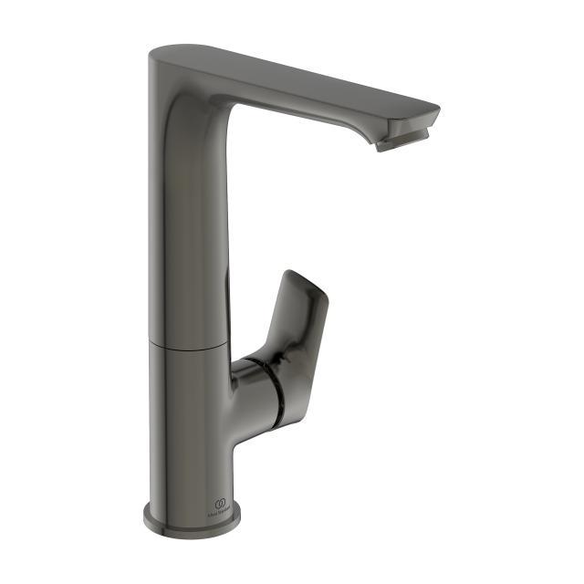 Ideal Standard Connect Air Einhebel-Waschtischarmatur mit hohem Schwenkauslauf magnetic grey, ohne Ablaufgarnitur
