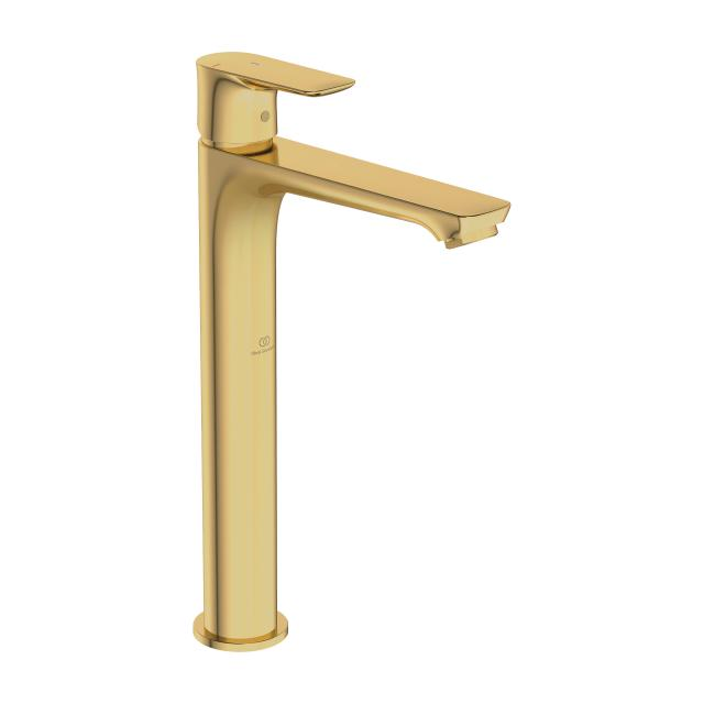 Ideal Standard Connect Air Einhebel-Waschtischarmatur mit verlängertem Sockel mit BlueStart brushed gold, ohne Ablaufgarnitur