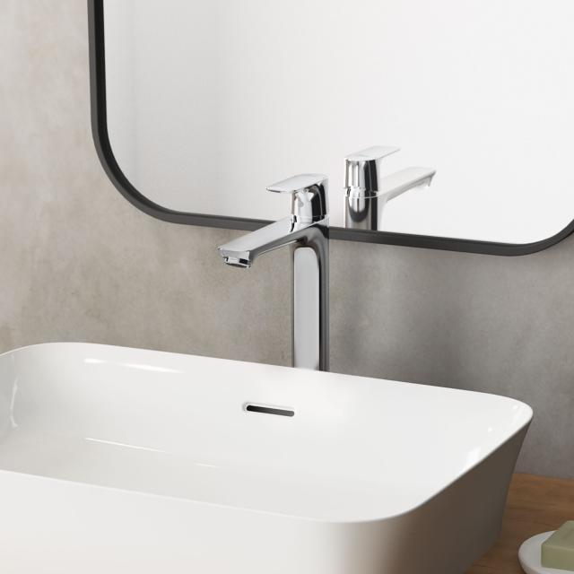 Ideal Standard Connect Air Einhebel-Waschtischarmatur mit verlängertem Sockel chrom, ohne Ablaufgarnitur