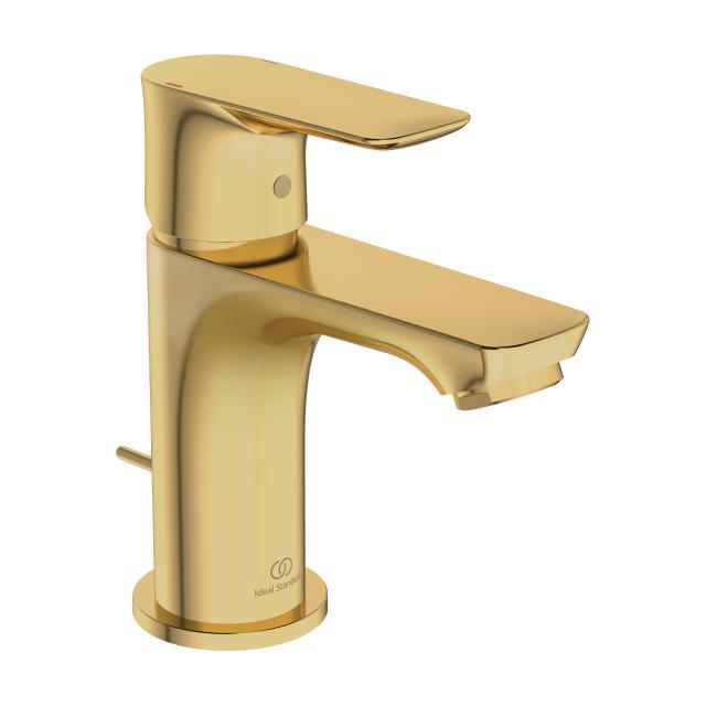 Ideal Standard Connect Air Einhebel-Waschtischarmatur PICCOLO brushed gold, mit Ablaufgarnitur
