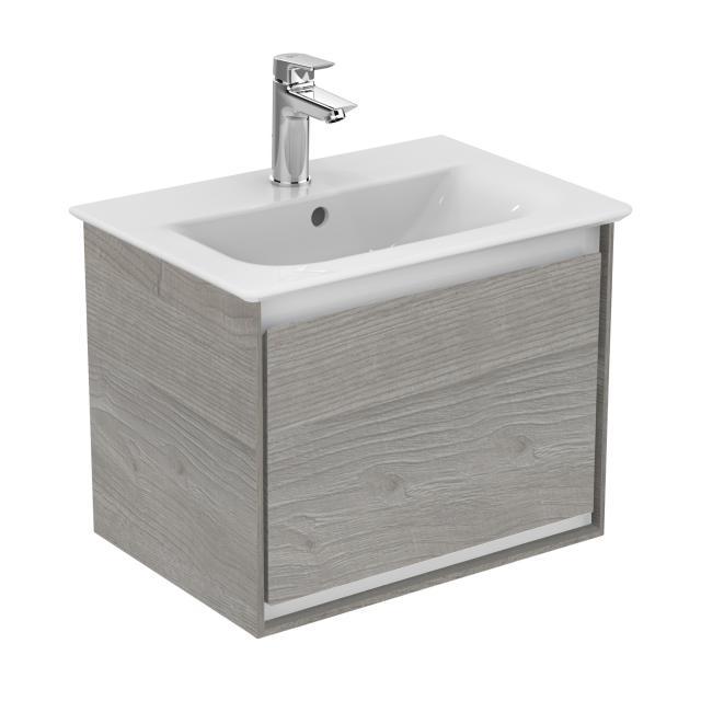 Ideal Standard Connect Air Handwaschbeckenunterschrank mit 1 Auszug eiche grau dekor/weiß matt
