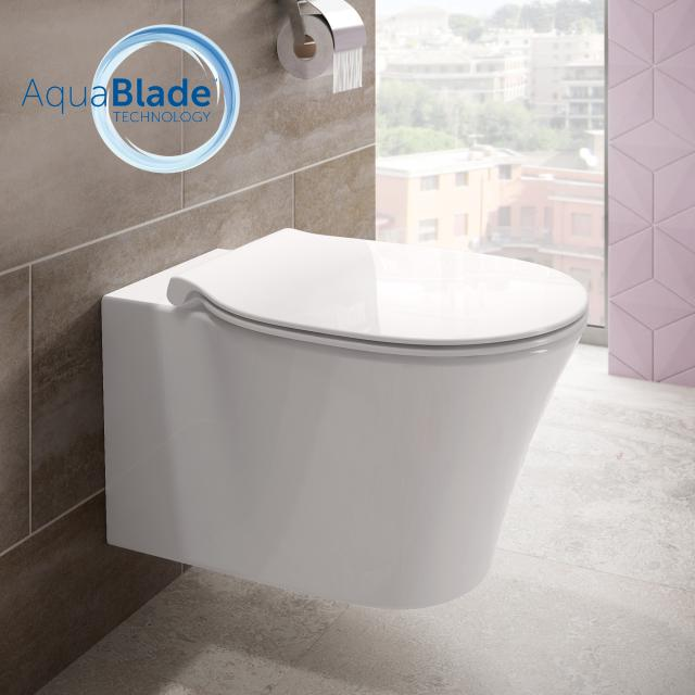 Ideal Standard Connect Air Wand-Tiefspül-WC, AquaBlade weiß, mit Ideal Plus