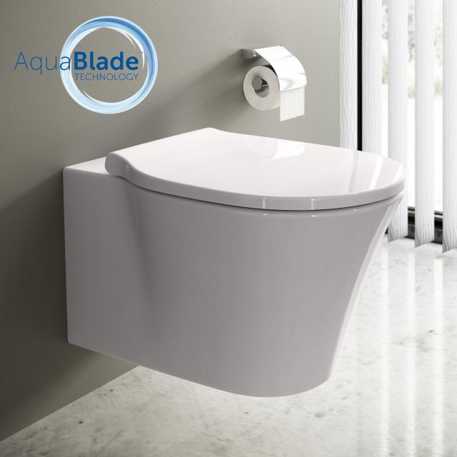 Ideal Standard Connect Air WC-Paket, Wand-Tiefspül-WC AquaBlade, mit WC-Sitz weiß, mit Ideal Plus