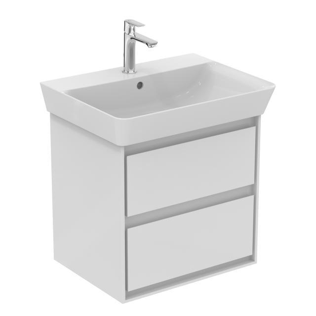 Ideal Standard Connect Air Waschtischunterschrank mit 2 Auszügen Front weiß glanz / Korpus weiß matt/ weiß glanz