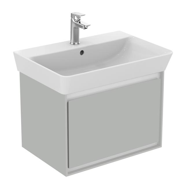Ideal Standard Connect Air Waschtischunterschrank mit 1 Auszug hellgrau glänzend/weiß matt