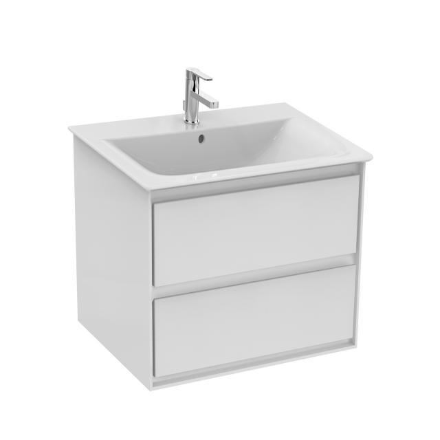 Ideal Standard Connect Air Waschtischunterschrank mit 2 Auszügen Front weiß glänzend / Korpus weiß matt/weiß glänzend