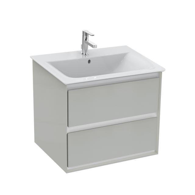 Ideal Standard Connect Air Waschtischunterschrank mit 2 Auszügen hellgrau glänzend/weiß matt