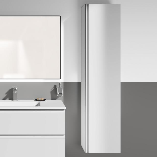 Ideal Standard Connect E Hochschrank Front weiß hochglanz/Korpus weiß hochglanz, Griff weiß
