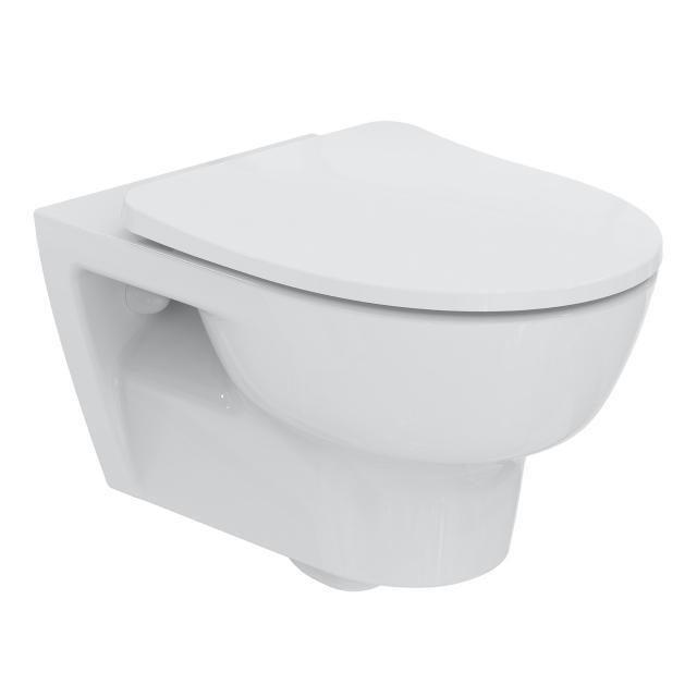 Ideal Standard Connect E Wand-Tiefspül-WC, spülrandlos weiß, mit Ideal Plus