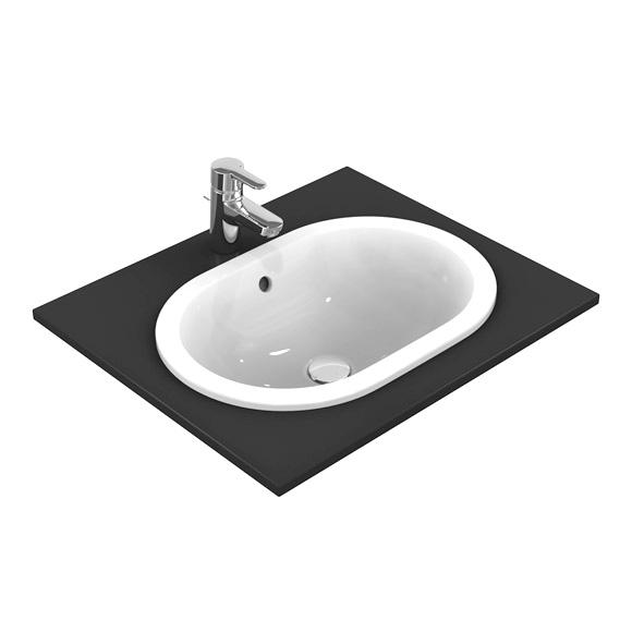 Ideal Standard Connect Einbauwaschtisch oval weiß