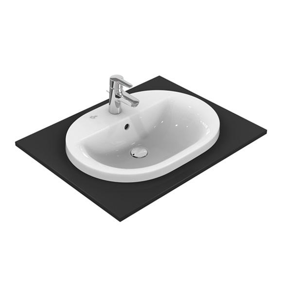 Ideal Standard Connect Einbauwaschtisch oval weiß, mit Ideal Plus