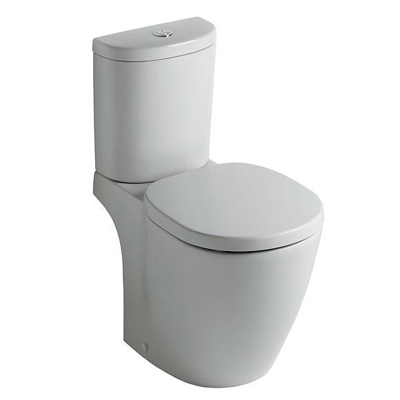 Ideal Standard Connect Stand-Tiefspül-WC für Kombination Abgang waagerecht, weiß, mit Ideal Plus