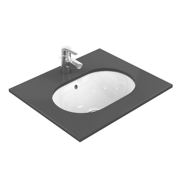 Ideal Standard Connect Unterbauwaschtisch oval mit Ideal Plus