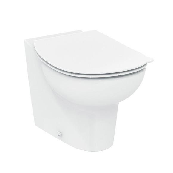 Ideal Standard Contour 21 Schools Stand-Tiefspül-WC, ohne Spülrand weiß, mit Ideal Plus