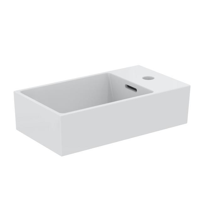 Ideal Standard Extra Handwaschbecken weiß, mit Ideal Plus, mit 1 Hahnloch, ungeschliffen
