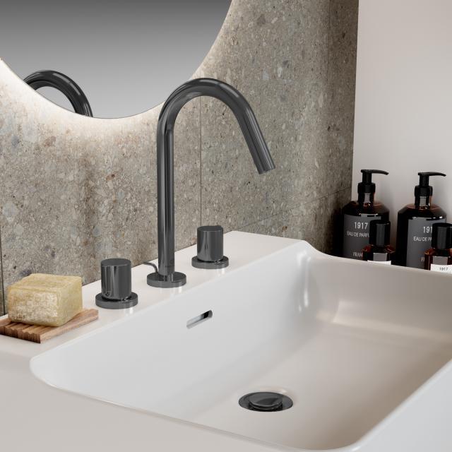 Ideal Standard Joy 3-Loch-Waschtischarmatur magnetic grey