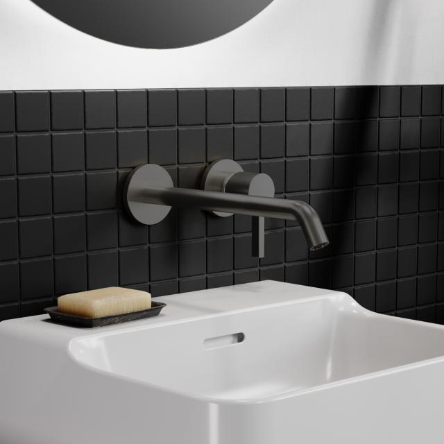 Ideal Standard Joy Wand-Waschtischarmatur Unterputz Bausatz 2 magnetic grey, Ausladung 225 mm