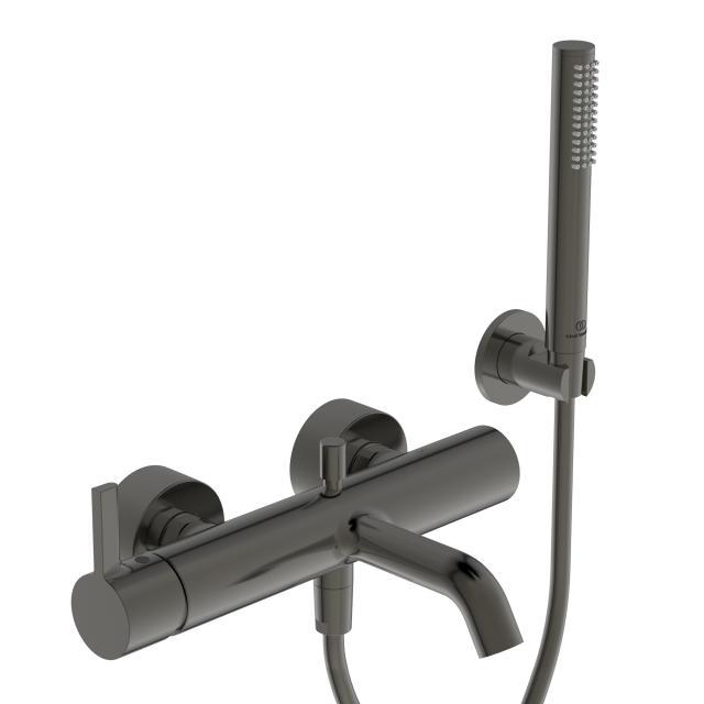 Ideal Standard Joy Collections Wannenarmatur Aufputz mit Brausegarnitur magnetic grey